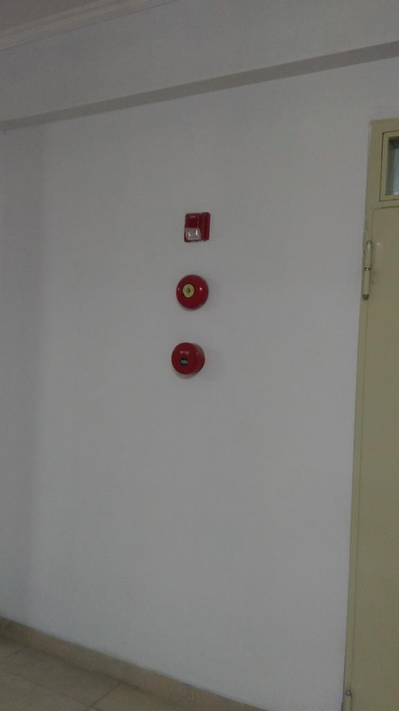 Fire Alarm Set (Manual Call Point, Fire Bell, Indicating Lamp)