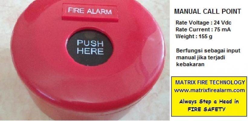Manual Call Point / Tombol Darurat Fire Alarm